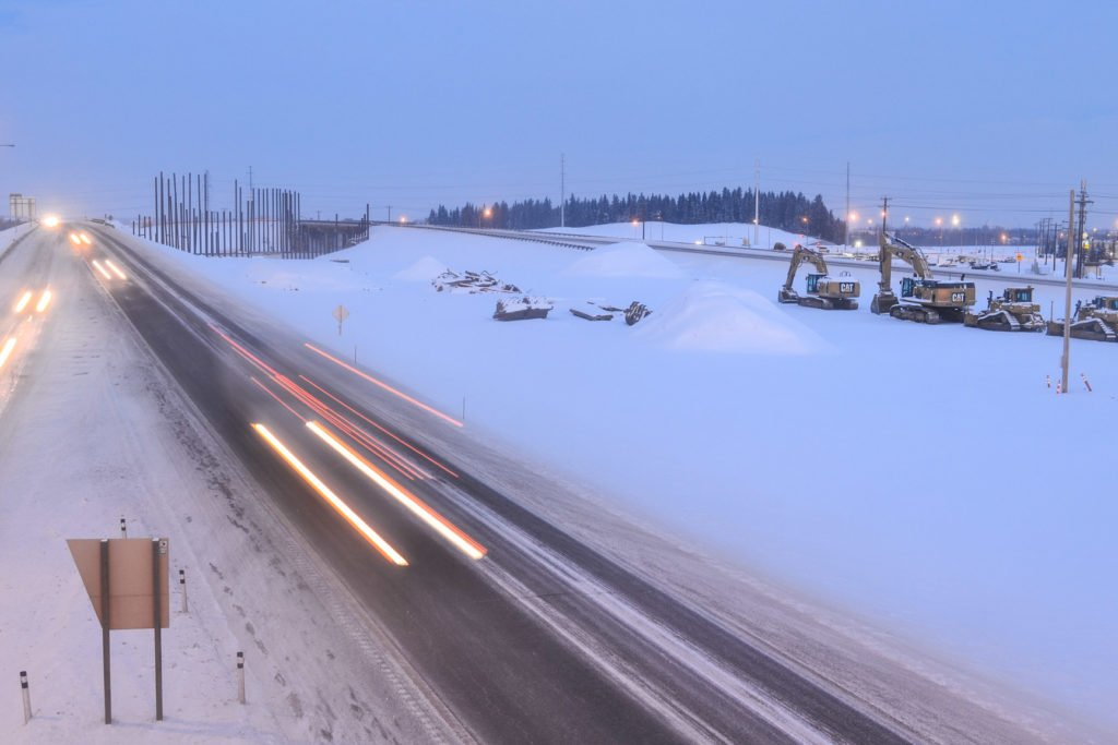 Red Deer Highway 2 Construction OwlBox 4K Construction Camera Time-Lapse System & Services