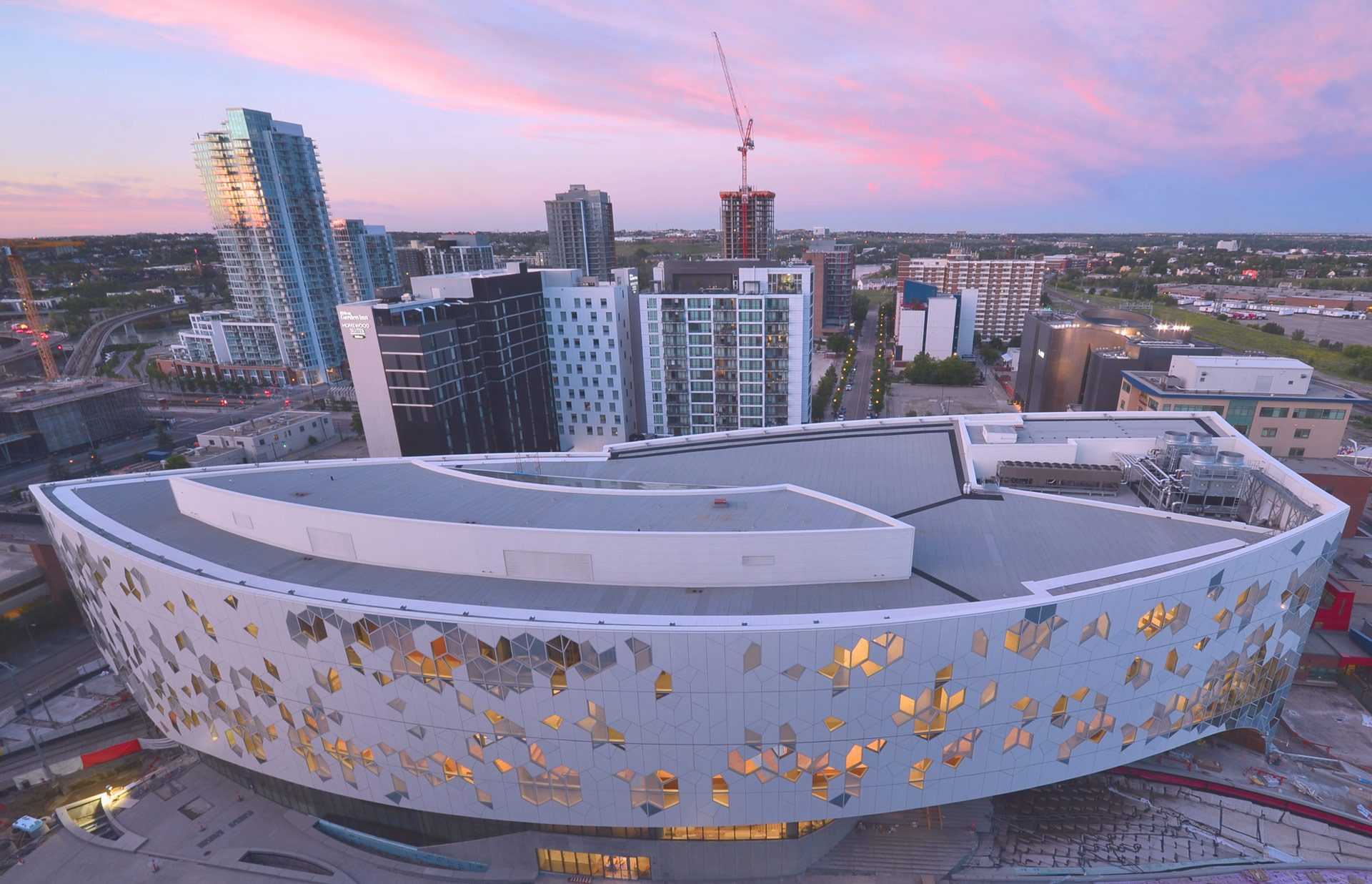 Calgary New Central Library Construction OwlBox 4K Construction Camera Time-Lapse System & Services